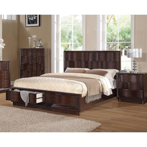 Acme Furniture Travell Eastern King Low Profile Bed