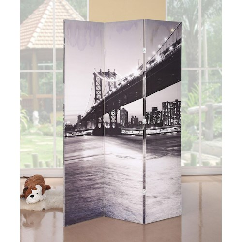 Acme Furniture Trudy Bridge 3-Panel Wooden Screen