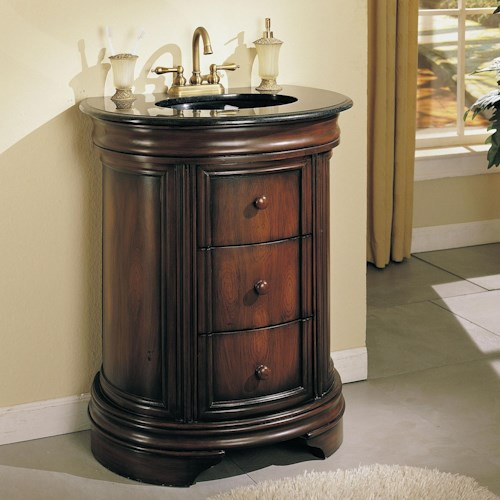 Acme Furniture Vanity Sinks Vanity Sink w/ 3 Drawers