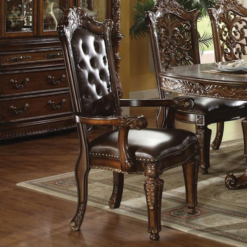 Acme Furniture Vendome Traditional Dining Arm Chair