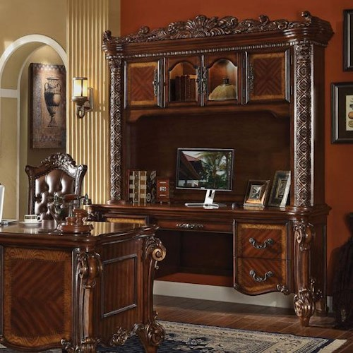 Acme Furniture Vendome Bookcase with Desk