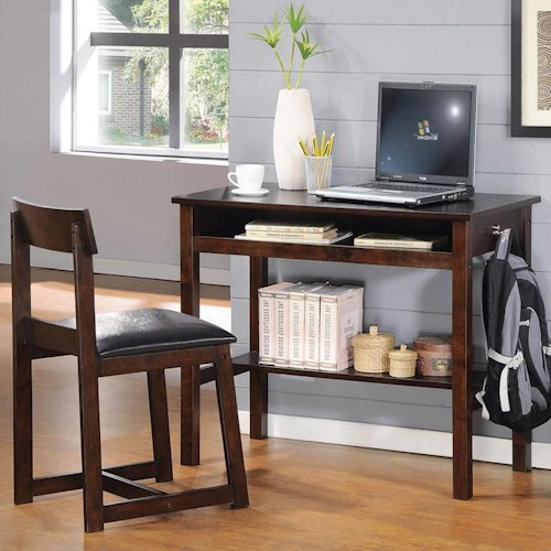 Acme Furniture Vester Espresso 2-Piece Desk and Padded Desk Chair