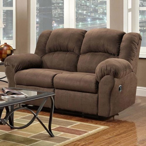 Affordable Furniture 1000 Reclining Loveseat with Pillow Arms