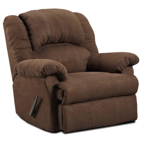 Affordable Furniture 1000 Rocker Recliner with Chaise Seating