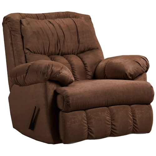 Affordable Furniture 2500 Casual Rocker Recliner for Family Rooms and Living Rooms