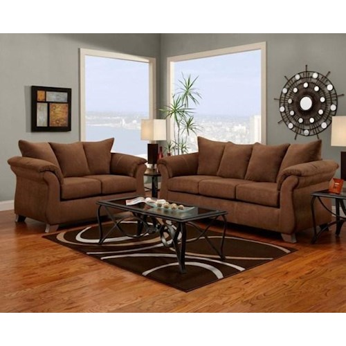 Affordable Furniture 6700 Sofa and Loveseat