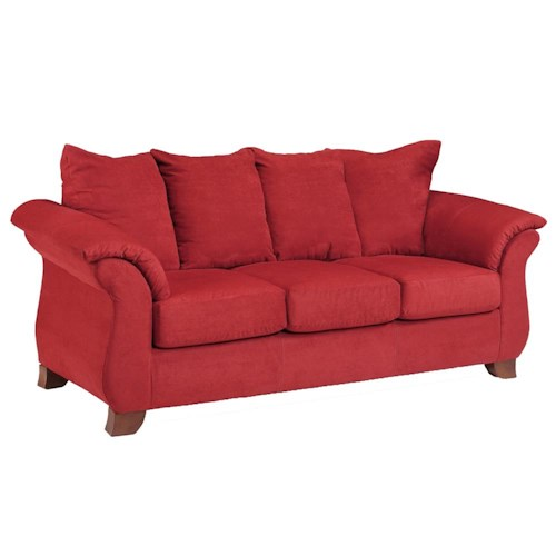 Affordable Furniture 6700 Transitional Flared Pillow Arm Stationary Sofa