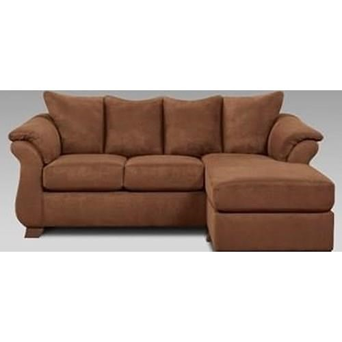 Affordable Furniture Chocolate Sofa/Chaise