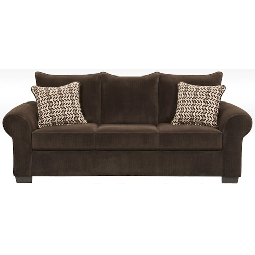 Affordable Furniture 7300 Contemporary Sofa with Large Rolled Arms
