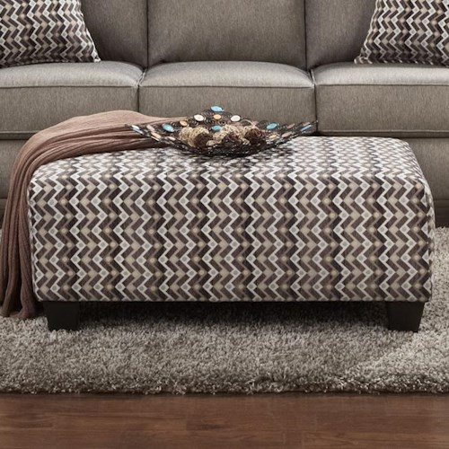 Affordable Furniture 9005 Contemporary Rectangular Cocktail Ottoman