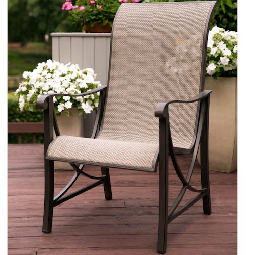 Agio Davenport Dining Chair with Curved Track Arms