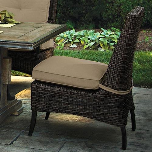 Morris Home Furnishings Modansa Woven Armless Cushion Dining Chair