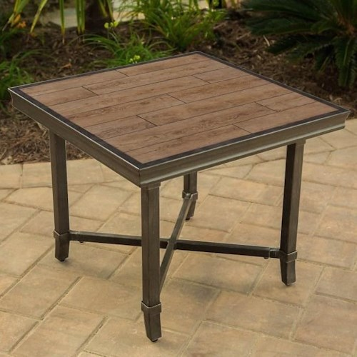 Agio Franklin End Table with Square Top