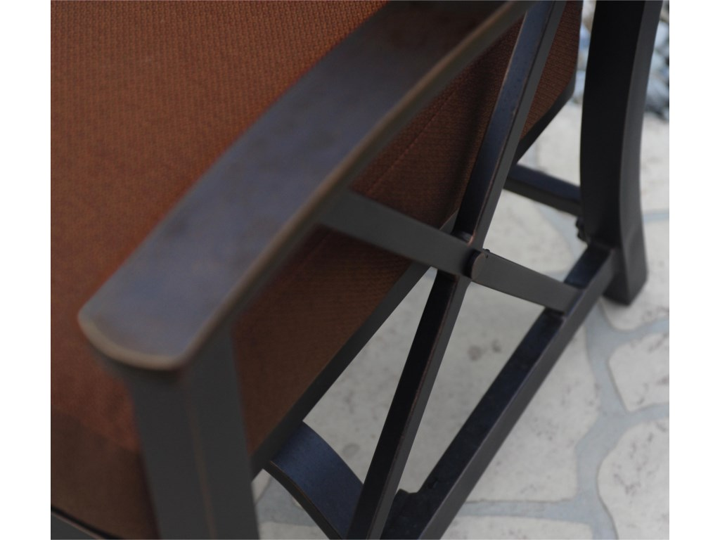 Aged Brown Finish on Aluminum Offers Slightly Distressed Look