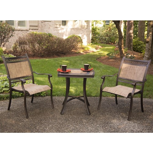 Agio Maguire 3 Pc Bistro set w/ Sling Chair