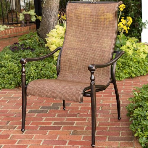 Agio Willowbrook  Sling Bucket Dining Arm Chair