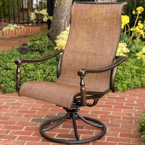 Agio Willowbrook  Sling Bucket Swivel Outdoor Rocker