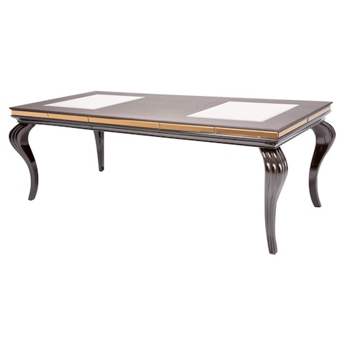 Michael Amini Hollywood Loft 4 Leg Dining Table for Formal Dining Rooms