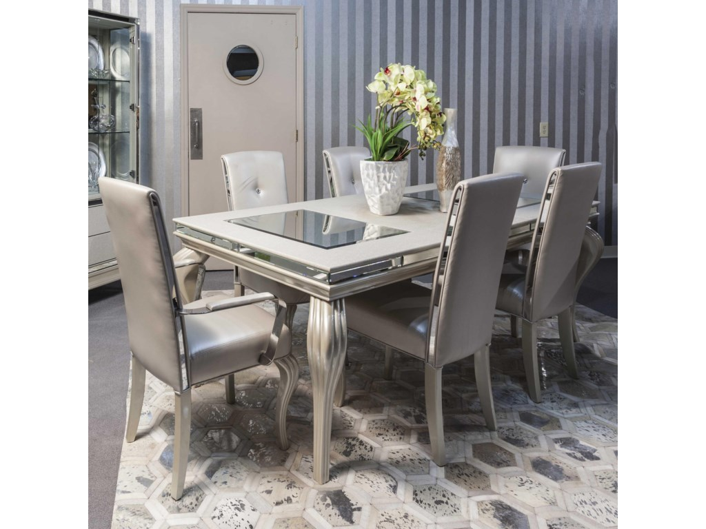 After Eight Pearl Dining Room Set By Aico From Www Mmfurniture