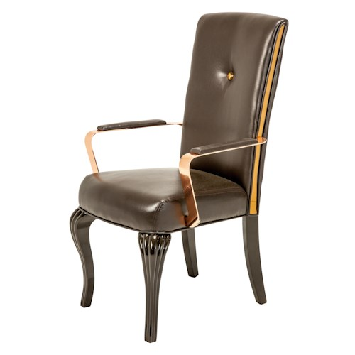 Michael Amini Hollywood Loft Arm Chair for Elegant Formal Dining Rooms