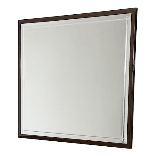 Michael Amini Hollywood Loft Rectangular Dresser Mirror with Beveled Details