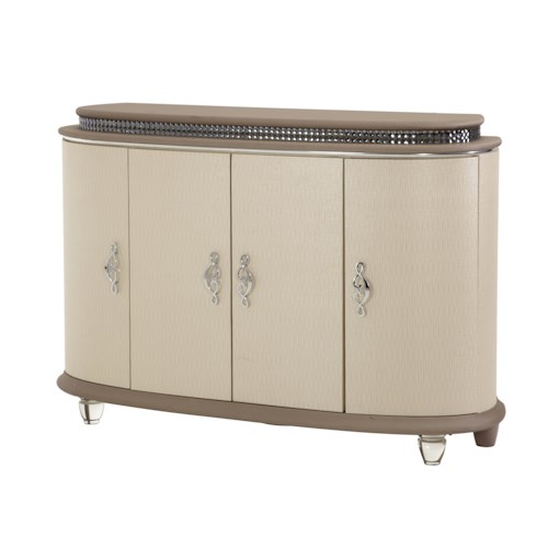 Michael Amini Overture Four-Door Buffet with Crystal Accents