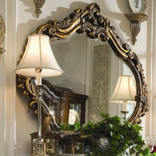 Michael Amini Palais Royale Gold Leafed Sideboard Mirror