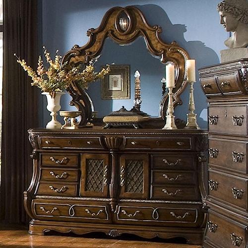 Michael Amini The Sovereign Dresser w/ Mirror
