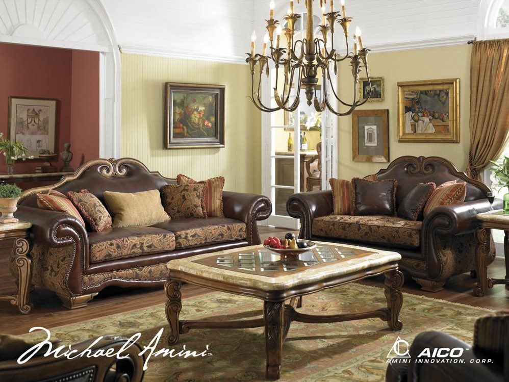 Shown with Leather/Fabric High Back Sofa and Loveseat