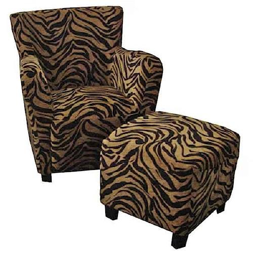 AIF Trading Group 226 Club Chair Tiger Club Chair