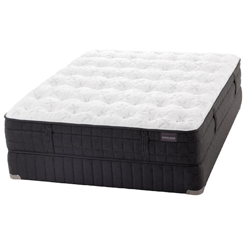 Aireloom Bedding AL Madrid Twin Plush Latex Mattress and Low Profile Foundation