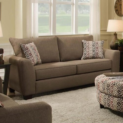 Albany 0416 Loveseat with 2 Loose Back Cushions