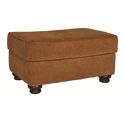 Morris Home Furnishings Wyatt Upholstery Ottoman