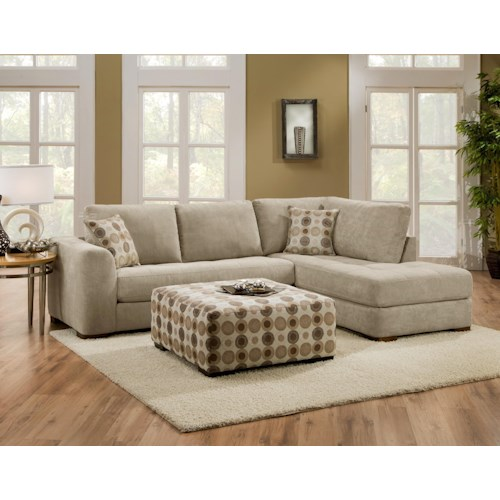 Albany 277 Right-Side Chaise with Ottoman