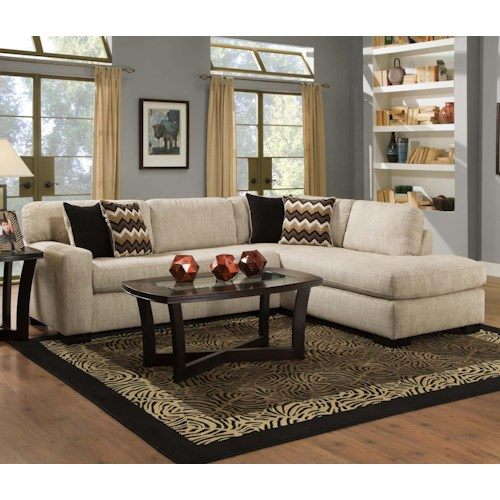 Albany 352 Casual Sectional Sofa
