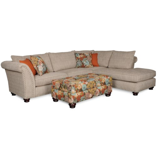 Albany 390 transitional two piece sectional with chaise for Albany sahara sectional sofa chaise