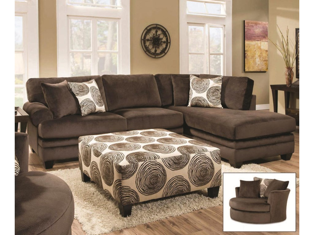 Shown with Chocolate Sectional