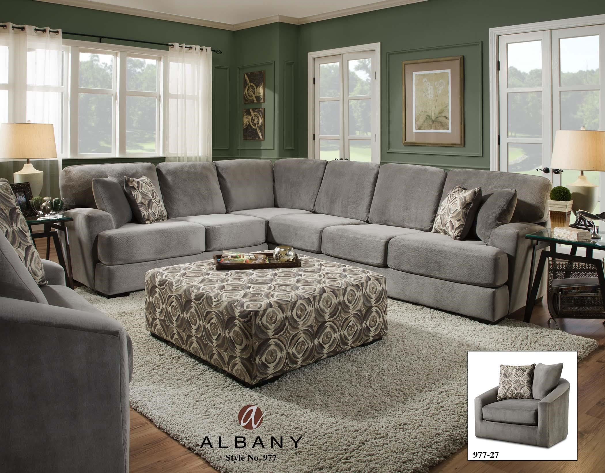 Living room furniture upholstery group albany 977 transitional living