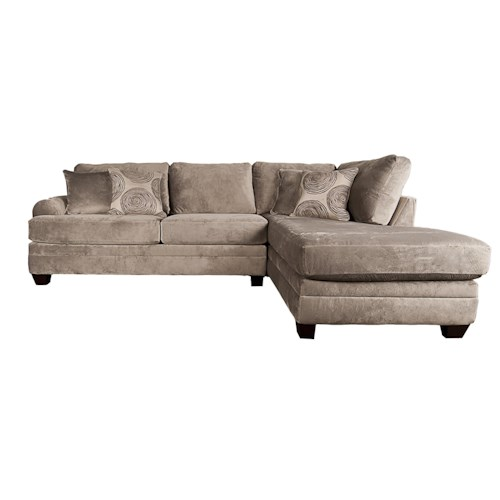 Morris Home Furnishings Agustus 2-Piece Sectional