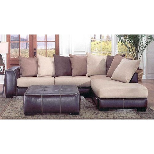 Albany 348 laredo contemporary 2 piece sectional with raf for Albany saturn sectional sofa chaise