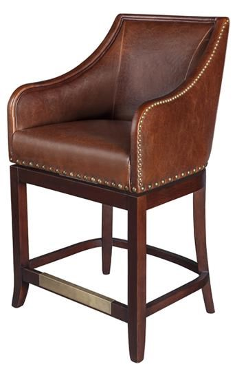 Belfort Leather Manchester Upholstered Swivel Counter