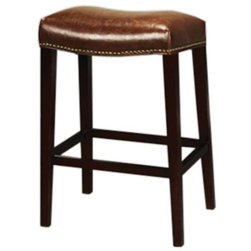 Belfort Leather AT00 Rectangular Saddle Bar Stool with Antique Saddle Leather