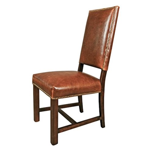 Belfort Leather Weston Dining Room Side Chair with Traditional Style