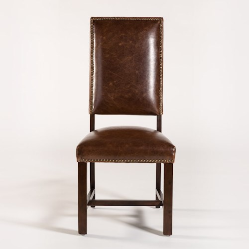 Belfort Leather Weston Dining Side Chair with Leather Back and Seat