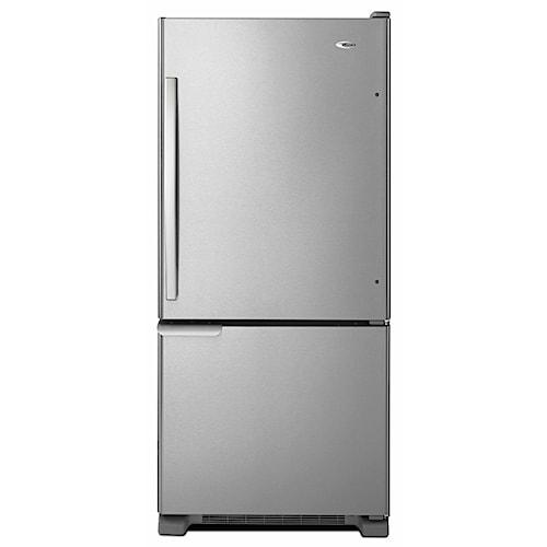 Amana Bottom Mount Refrigerators ENERGY STAR® 18.5 Cu. Ft. Bottom-Freezer Refrigerator with Temp-Assure Freshness Controls