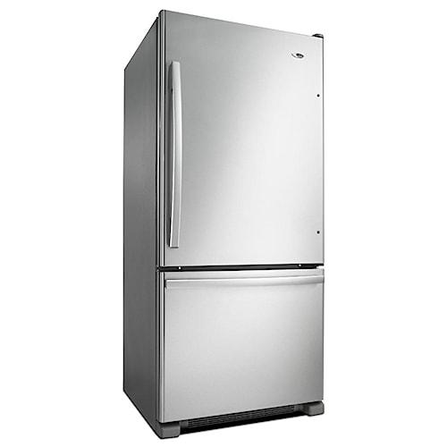 Amana Bottom Mount Refrigerators ENERGY STAR® 18.5 cu. ft. Top-Freezer Refrigerator with Spill-Catcher Glass Shelves