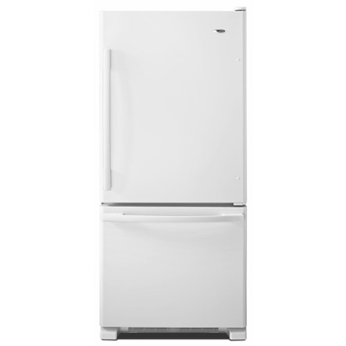 Amana Bottom Mount Refrigerators ENERGY STAR® 18.5 cu. ft. Top-Freezer Refrigerator with Spill-Catcher Glass Shelves