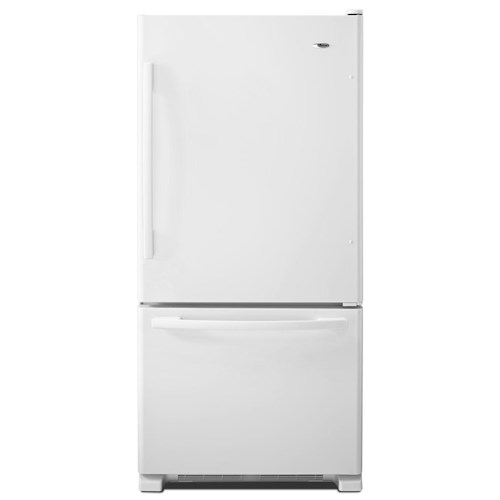 Amana Bottom Mount Refrigerators ENERGY STAR® 22 Cu. Ft. Bottom-Freezer Refrigerator with Glide-Out Wire Lower Freezer and QuickSplit Organizer