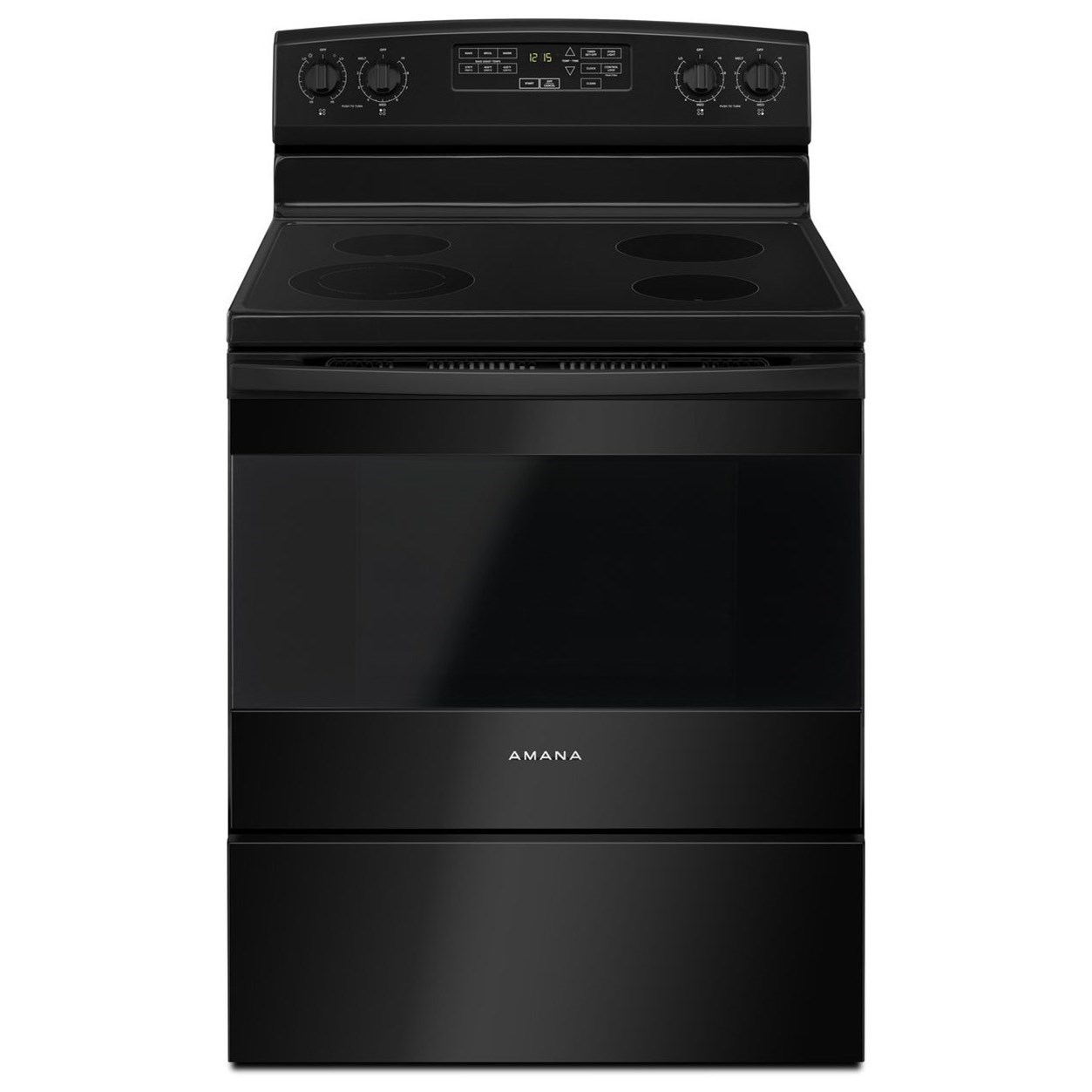 Amana 30 Inch Electric Range With Self Clean Option Ivan Smith Furniture Ranges Electric