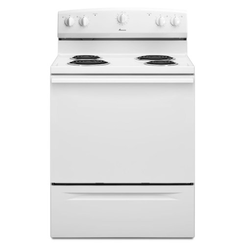 Amana Electric Range 4.8 CU. FT. Electric Range with Versatile Cooktop Elements